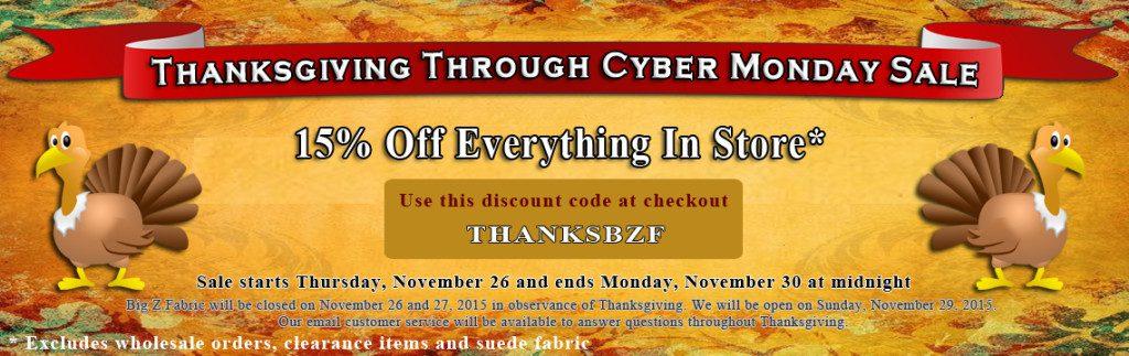 Big Z Fabric Thanksgiving Anti-pill Fleece Sale