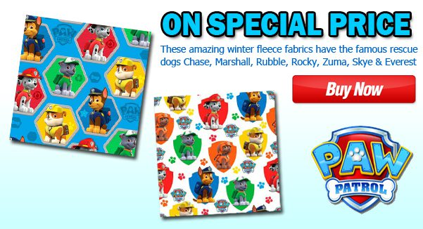 PAW Patrol Fleece Fabric Blowout Sale