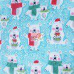 Bear Anti-pill Fleece Fabric Snow Polar Buddies