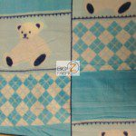 Bear Anti-pill Fleece Fabric Teddy Blue