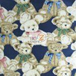 Bear Anti-pill Fleece Fabric Where Are My Teddy Bears Navy