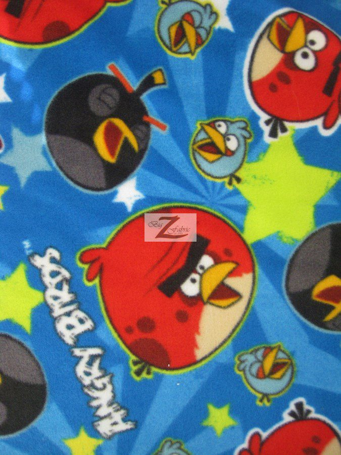 Angry birds anti pill fleece fabric anti pill fleece fabric for Spaceship fleece fabric