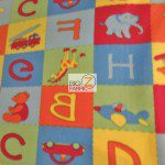 Baby Fleece Fabric Alphabet