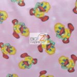 Baby Fleece Fabric Happy Ducks