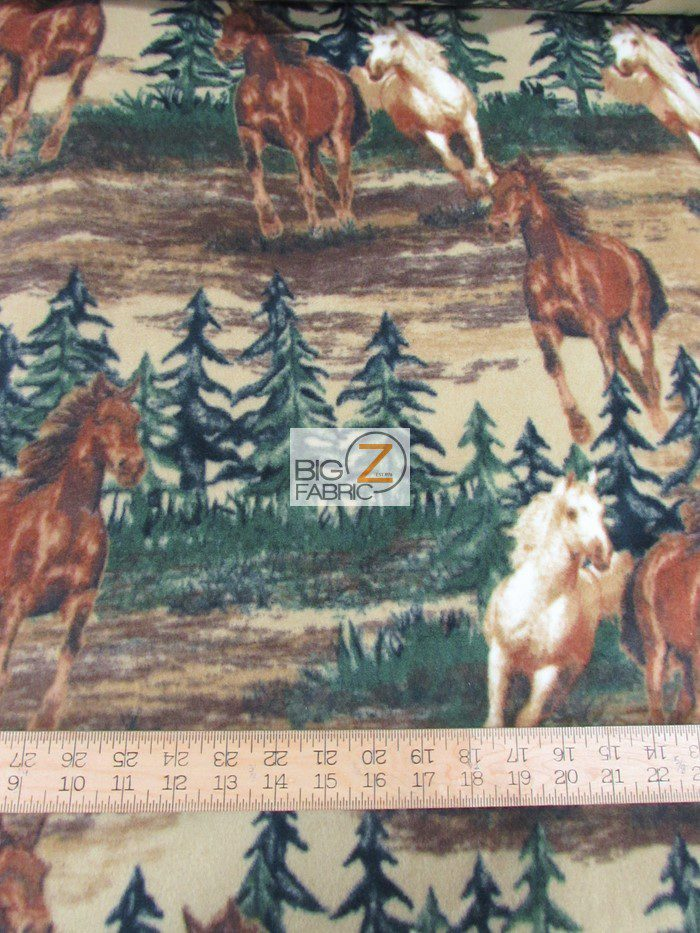 Baum Textile Mills Fleece Fabric Mustang Valley