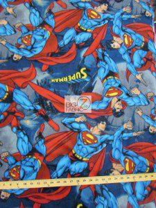 Superman DC Comics Fleece Fabric