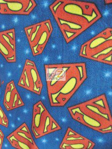 Superman Emblem Fleece Fabric