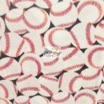 All Over Baseballs Fleece Fabric By Baum Textile Mills