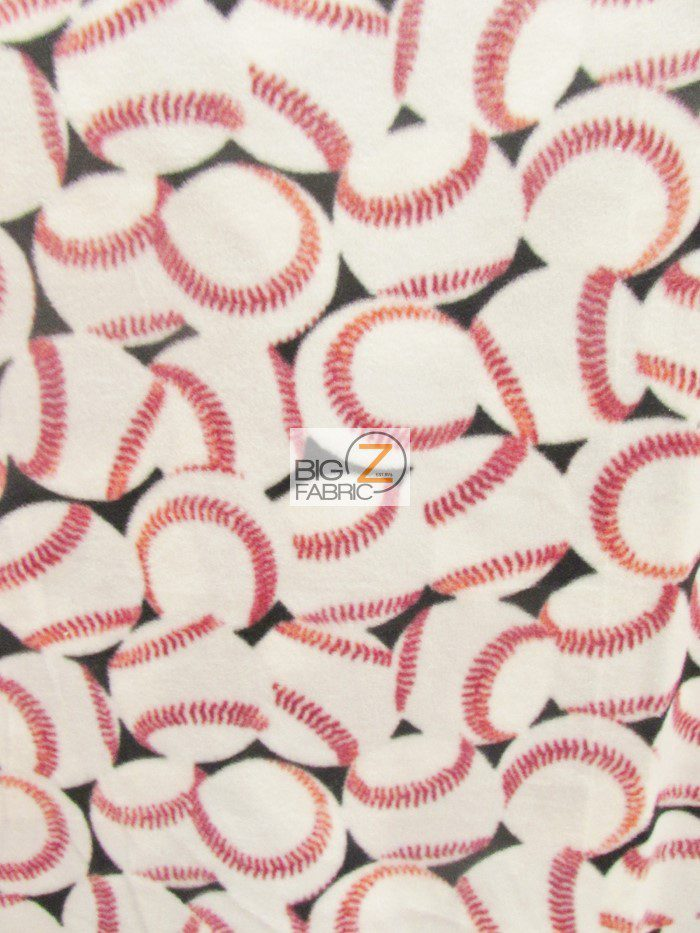 All Over Baseballs Fleece Fabric By Baum Textile Mills