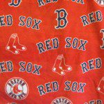 MLB Anti-pill Fleece Fabric Boston Red Sox