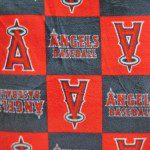 MLB Anti-pill Fleece Fabric Los Angeles Angels