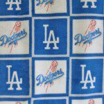 MLB Anti-pill Fleece Fabric Los Angeles Dodgers