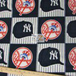 MLB Anti-pill Fleece Fabric New York Yankees