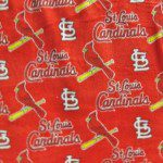 MLB Anti-pill Fleece Fabric St Louis Cardinals