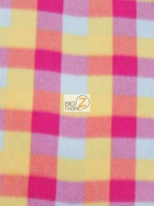 Rainbow Checkered Fleece Fabric