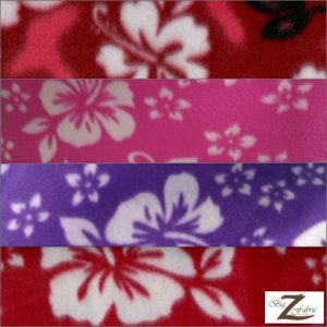 Hawaiian Flower Anti-pill Fleece Fabric
