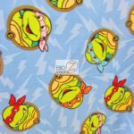 TMNT Turtle Head Toss Anti-pill Fleece Fabric