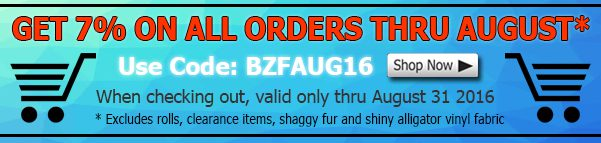 August Big Z Fabric Fleece Discount