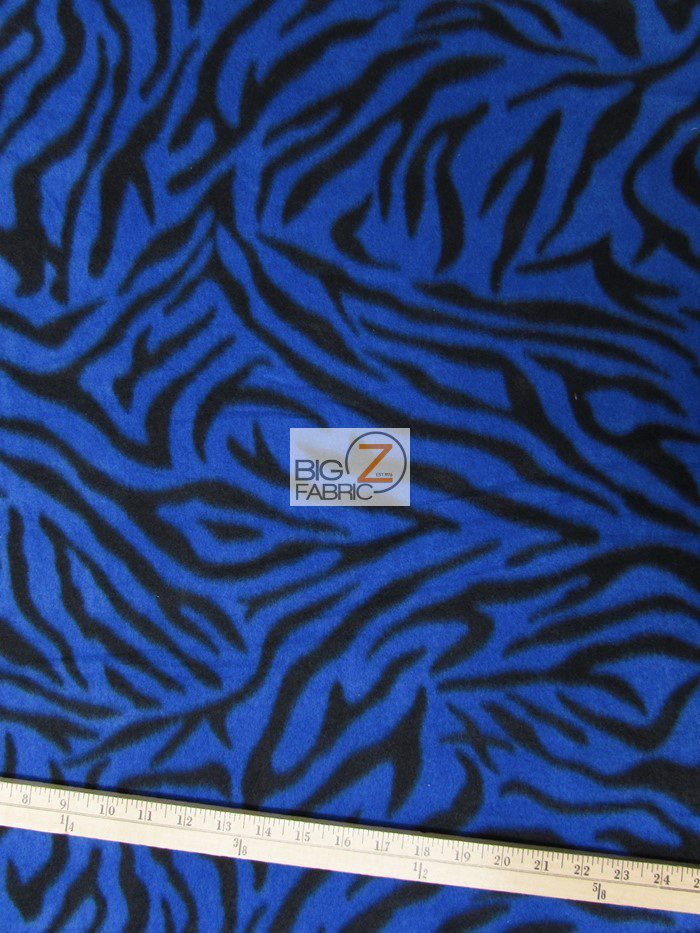 Blue Zebra Anti-pill Fleece Fabric