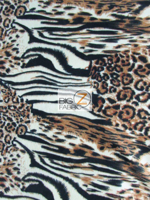 Animal Kingdom Zebra Anti-pill Fleece Fabric