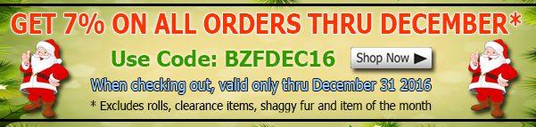 Big Z Fabric December Winter Fleece Fabric Discount Coupon