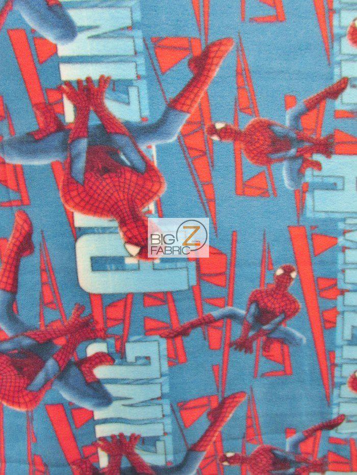 Amazing Spidey Electric Fleece Fabric