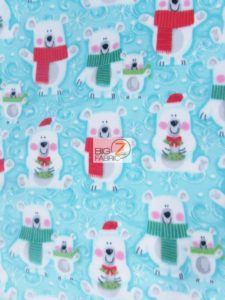 Baum Textile Mills Fleece Fabric Snow Buddies