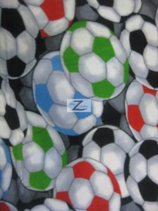 Soccer Balls 2 Anti-pill Fleece Fabric