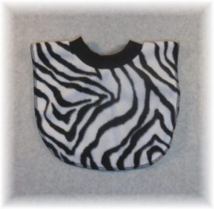 Zebra Fleece Baby Bib