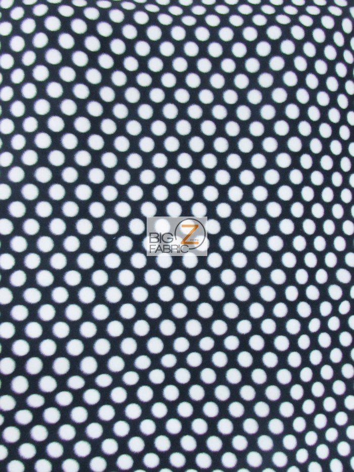 Black/White Polka Dot Anti-pill Fleece Fabric