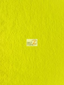 Solid Anti-pill Fleece Fabric Yellow