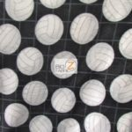 Volleyball Anti-pill Fleece Fabric Black