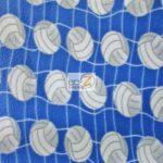 Volleyball Anti-pill Fleece Fabric Blue
