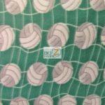 Volleyball Anti-pill Fleece Fabric Green