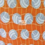 Volleyball Anti-pill Fleece Fabric Orange