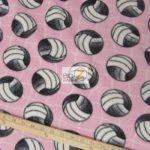 Volleyball Anti-pill Fleece Fabric Pink