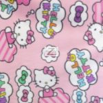 Hello Kitty Anti-pill Fleece Fabric Clouds & Bows
