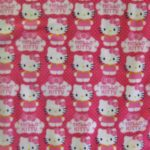 Hello Kitty Anti-pill Fleece Fabric Dotted