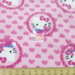 Hello Kitty Anti-pill Fleece Fabric Medallions