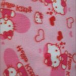 Hello Kitty Anti-pill Fleece Fabric Retro