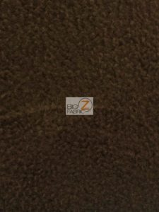Solid Anti-pill Fleece Fabric Brown