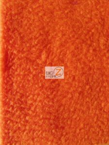 Solid Anti-pill Fleece Fabric Carrot Orange