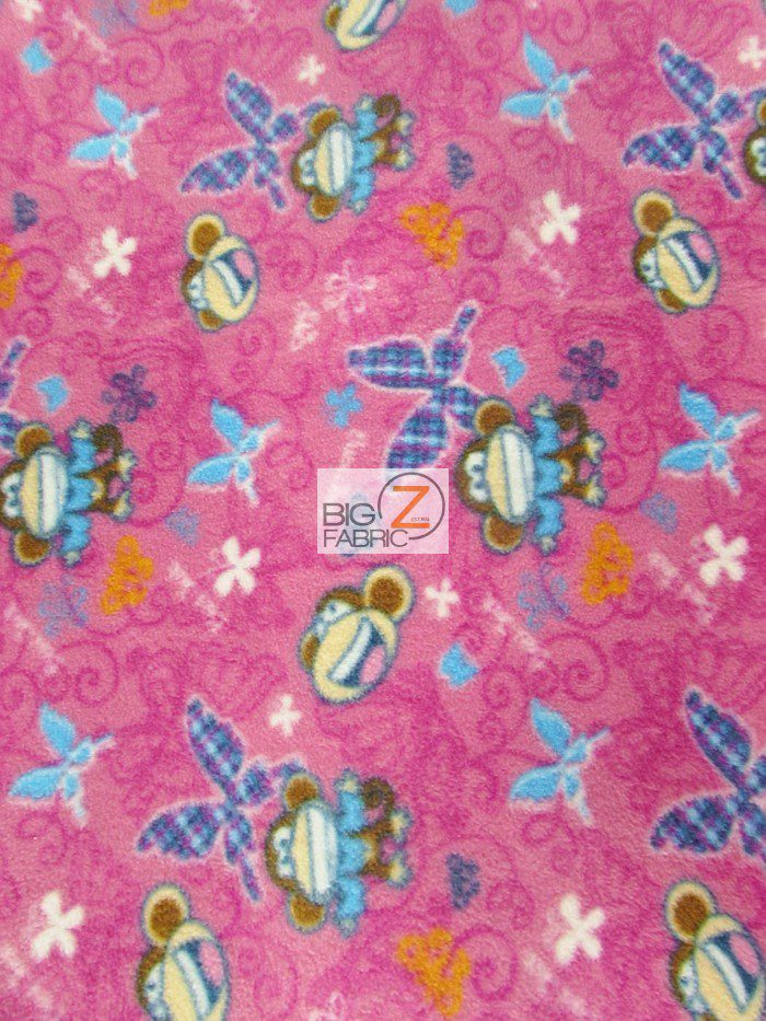 Bobby Jack Monkey Anti-pill Fleece Fabric