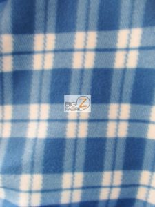Scott Checkered Color #1 Anti-pill Fleece Fabric