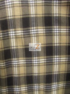 Scott Checkered Color #5 Anti-pill Fleece Fabric