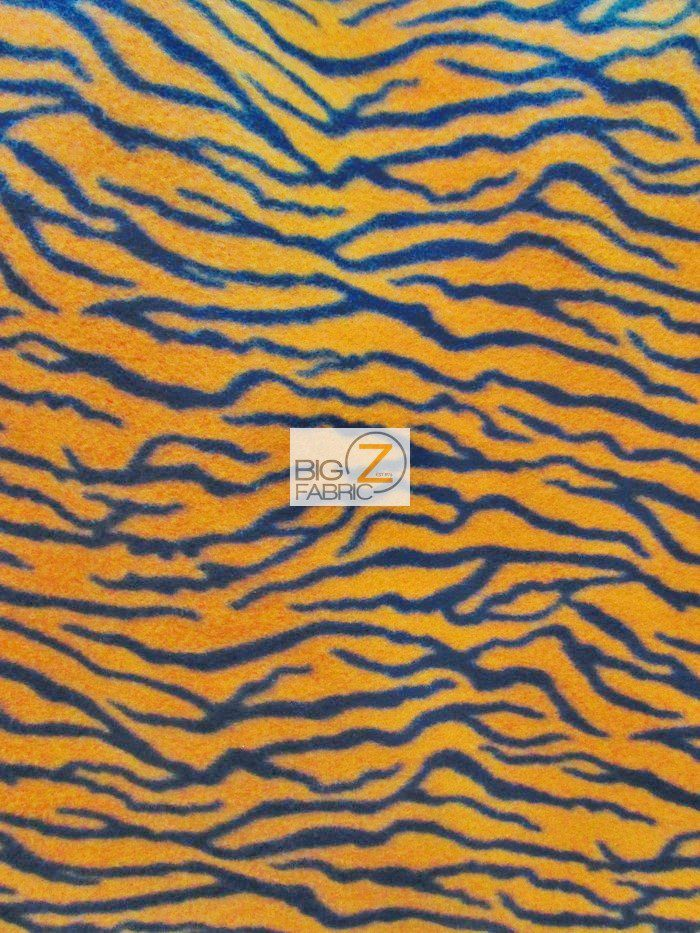Orange Small Stripes Zebra Anti-pill Fleece Fabric