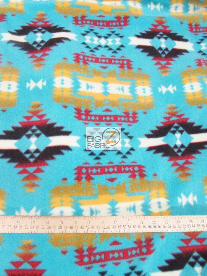 Baum Textile Mills Fleece Printed Aztec