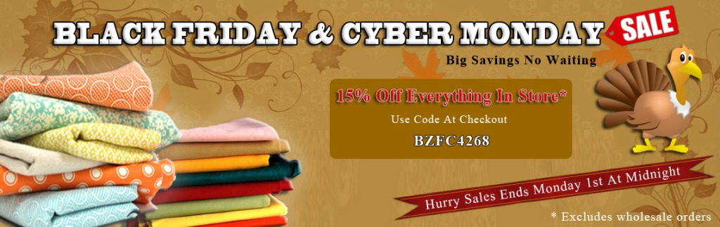 Black Friday & Cyber Monday Anti-pill Fleece Fabric Sale