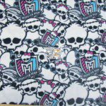 Monster High Anti-pill Polar Fleece Fabric Skulls And Emblem