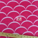 Nouveau Scales Anti-pill Polar Fleece Fabric By David Textiles Fuchsia